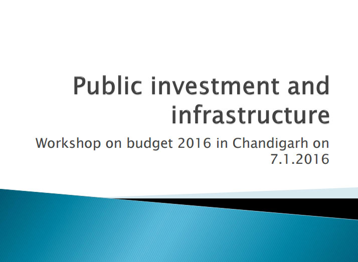 Public Investment and Infrastructure